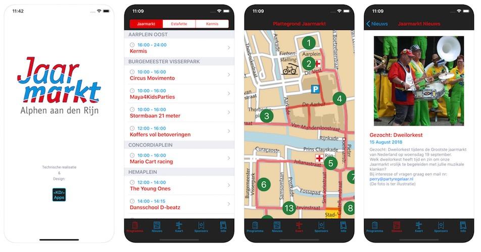 Nieuwe versie van de Jaarmarkt app